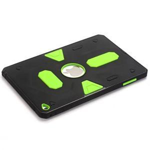 Outdoor dvoudílný gélový/plastový obal pre iPad mini 4 - zelený - 5