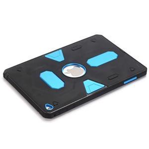 Outdoor dvoudílný gélový/plastový obal pre iPad mini 4 - modrý - 5