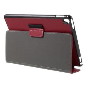 Clothy PU kožené puzdro pre iPad Pro 9.7 - červené - 5