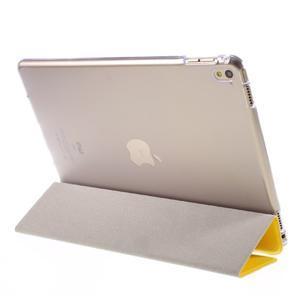 Trifold polohovateľné puzdro pre tablet iPad Pro 9.7 - žlté - 5