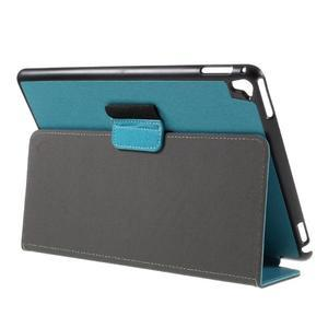 Clothy PU kožené puzdro pre iPad Pro 9.7 - svetlomodré - 5