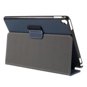 Clothy PU kožené puzdro pre iPad Pro 9.7 - tmavomodré - 5