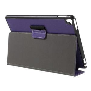 Clothy PU kožené puzdro pre iPad Pro 9.7 - fialové - 5