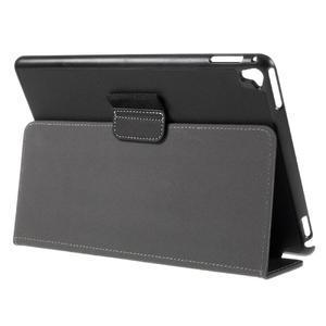Clothy PU kožené pouzdro na iPad Pro 9.7 - černé - 5