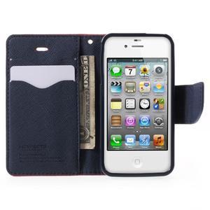 Fancys PU kožené puzdro pre iPhone 4 - červené - 5