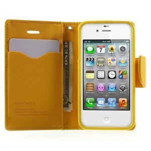 Fancys PU kožené puzdro pre iPhone 4 - zelené - 5