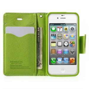Fancys PU kožené pouzdro na iPhone 4 - tmavěmodré - 5
