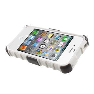 Outdoor odolný obal pre mobil iPhone 4 - biele - 5