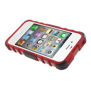 Outdoor odolný obal pre mobil iPhone 4 - červený - 5