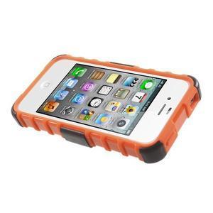 Outdoor odolný obal pre mobil iPhone 4 - oranžový - 5