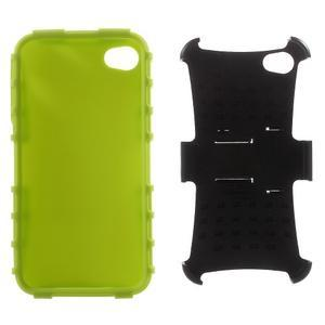 Outdoor odolný obal na mobil iPhone 4 - zelený - 5