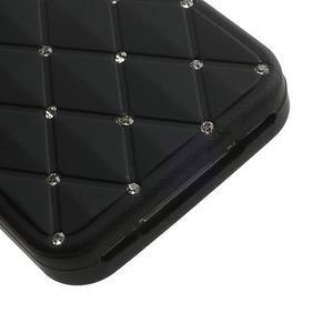 Diamonds silikónový obal pre mobil iPhone 4 - čierne - 5