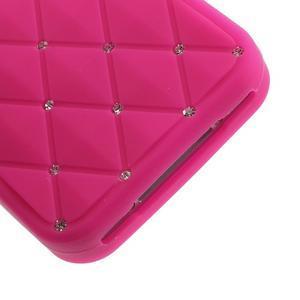 Diamonds silikonová obal na mobil iPhone 4 - rose - 5