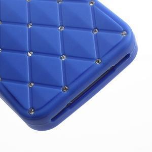 Diamonds silikonová obal na mobil iPhone 4 - modrý - 5