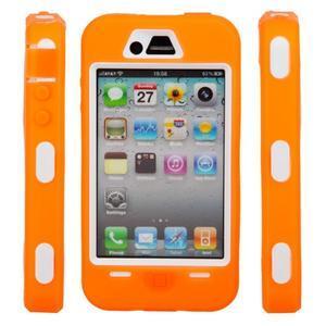 Armor vysoce odolný obal pre iPhone 4 - oranžový - 5