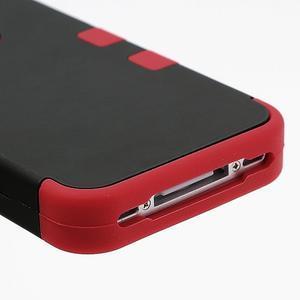 Extreme odolný kryt 3v1 na mobil iPhone 4 - červený - 5