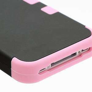 Extreme odolný kryt 3v1 na mobil iPhone 4 - ružový - 5