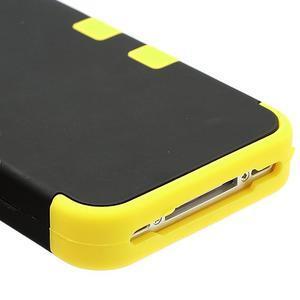 Extreme odolný kryt 3v1 na mobil iPhone 4 - žlutý - 5