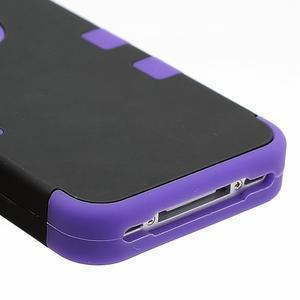 Extreme odolný kryt 3v1 na mobil iPhone 4 - fialový - 5