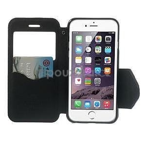 Peňaženkové puzdro s okienkom na iPhone 6 a 6s - tmavomodré - 5
