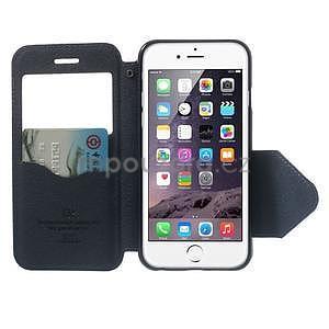Peňaženkové puzdro s okienkom na iPhone 6 a 6s - fialové - 5