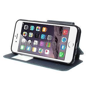 Peňaženkové puzdro s okienkom na iPhone 6 a 6s - svetlomodré - 5