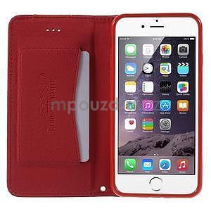 Klopové puzdro pre iPhone 6 a iPhone 6s - červené - 5
