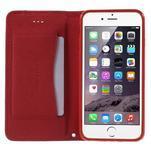 Klopové puzdro na iPhone 6 a iPhone 6s - červené - 5/7