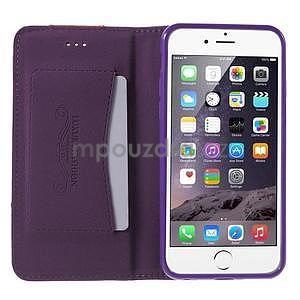 Klopové puzdro pre iPhone 6 a iPhone 6s - fialové - 5