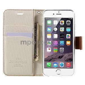 Peňaženkové koženkové puzdro na iPhone 6s a 6 - biele - 5