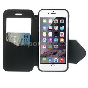 Peňaženkové puzdro s okienkom na iPhone 6 a 6s - čierne - 5