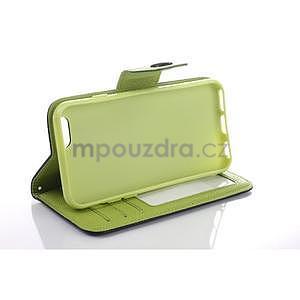 Dvojfarebné peňaženkové puzdro pre iPhone 6 a iPhone 6s - zelené/ žlté - 5