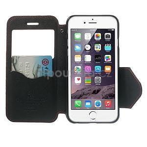 Peňaženkové puzdro s okienkom na iPhone 6 a 6s - červené - 5