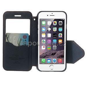 Peňaženkové puzdro s okienkom na iPhone 6 a 6s - oranžové - 5