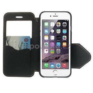 Peňaženkové puzdro s okienkom na iPhone 6 a 6s -  žlté - 5