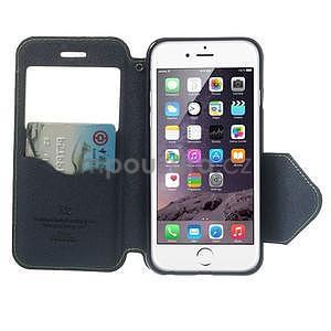 Peňaženkové puzdro s okienkom na iPhone 6 a 6s - zelené - 5