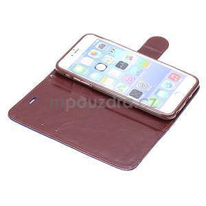 Elegantné peňaženkové púzdro pre iPhone 6 Plus a 6s Plus - šedé - 5