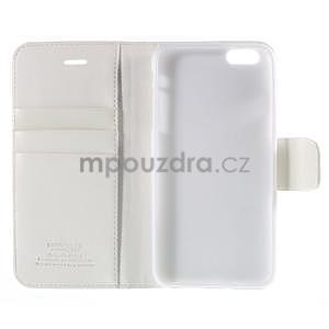 Peňaženkové puzdro pre iPhone 6 Plus a 6s Plus - biele - 5