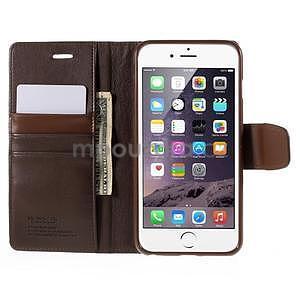 Peňaženkové puzdro pre iPhone 6 Plus a 6s Plus - hnedé - 5