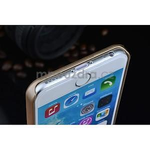 Štýlový kryt s kovovými chrbtom pre iPhone 6 Plus a 6s Plus - champagne - 5