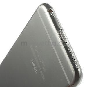 Ultra slim lesklý gélový obal na iPhone 6 Plus a 6s Plus - šedý - 5
