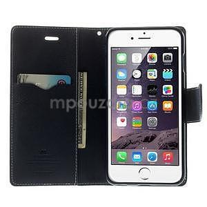 Peňaženkové puzdro pre iPhone 6 Plus a 6s Plus - azurové - 5