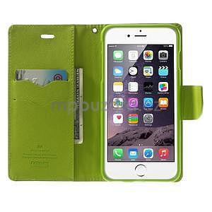 Peňaženkové puzdro pre iPhone 6 Plus a 6s Plus -  tmavomodre - 5