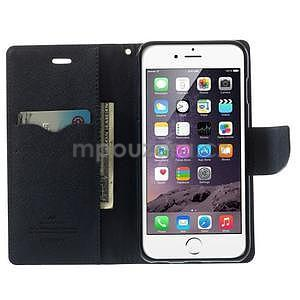 Peňaženkové puzdro pre iPhone 6 Plus a 6s Plus -  fialové - 5