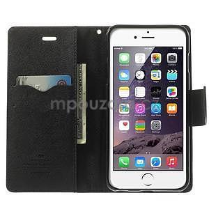 Peňaženkové puzdro pre iPhone 6 Plus a 6s Plus - hnedé/čierne - 5