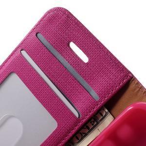 Cloth PU kožené puzdro pre iPhone SE / 5s / 5 - rose - 5