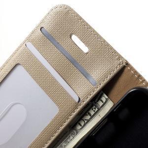 Cloth PU kožené pouzdro na iPhone SE / 5s / 5 - zlaté - 5