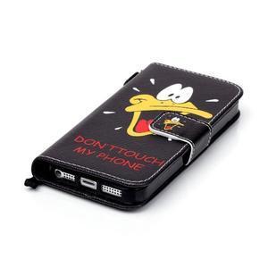Peněženkové pouzdro na mobil iPhone SE / 5s / 5 - kačer - 5