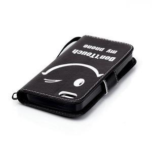 Peněženkové pouzdro na mobil iPhone SE / 5s / 5 - nedotýkat se - 5