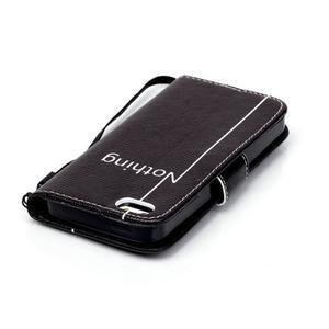 Peněženkové pouzdro na mobil iPhone SE / 5s / 5 - nothing - 5